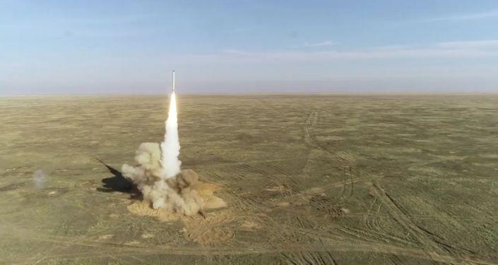 Un missile de croisière lancé à partir du système de missiles Iskander