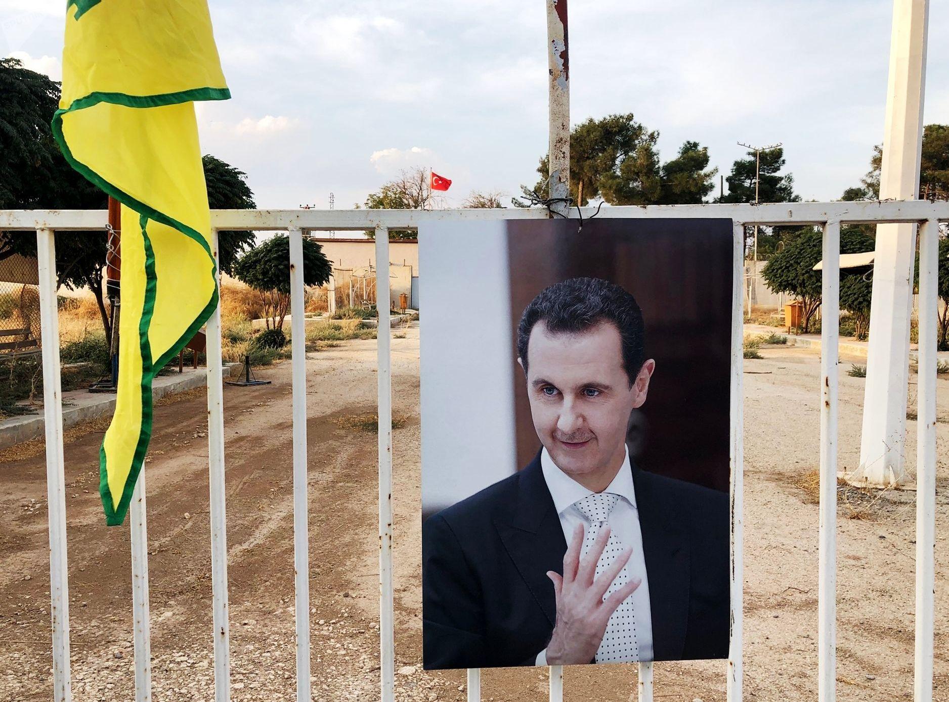 Portrait du Président Assad