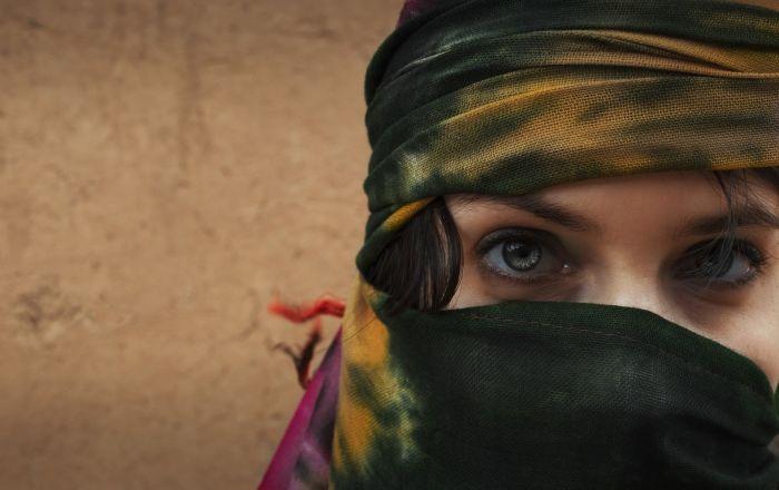 Une femme voilée