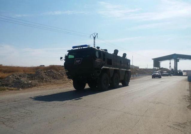 La police militaire russe arrive à Kobané, le 23 octobre 2019