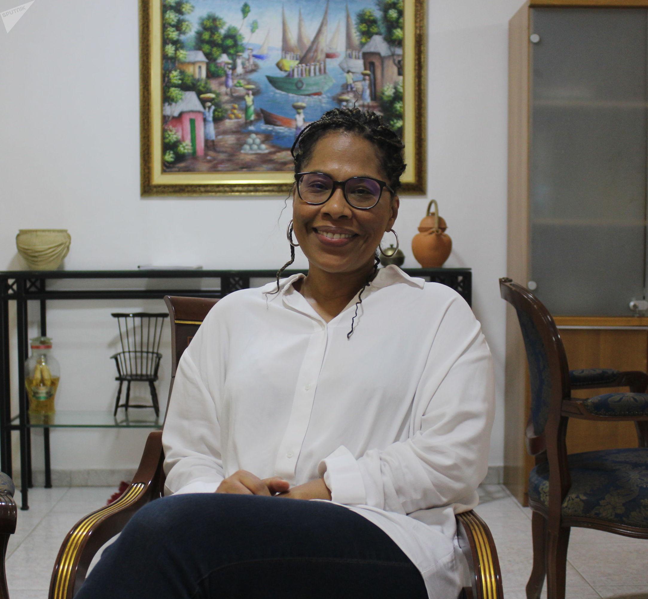 Nathalie Yamb, conseillère exécutive de Mamadou Koulibaly, candidat à la présidentielle ivoirienne de 2020