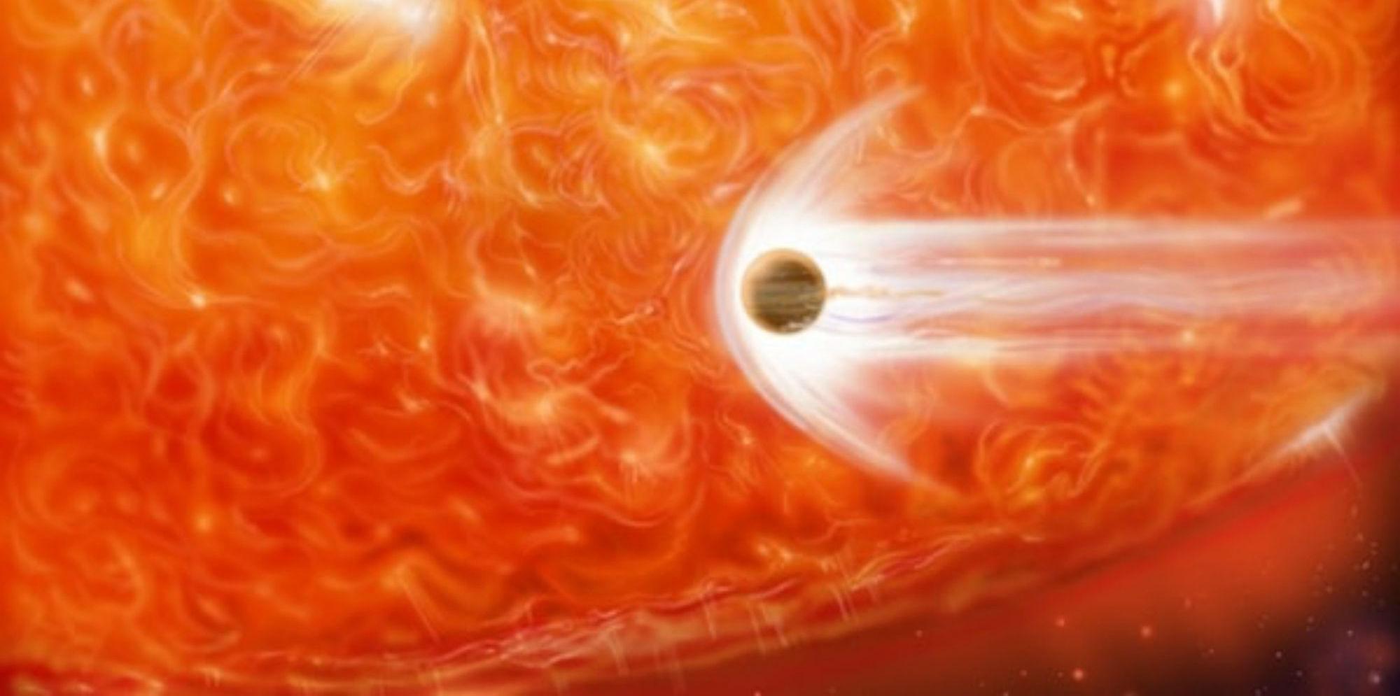 Une étoile rouge géante détruit une planète