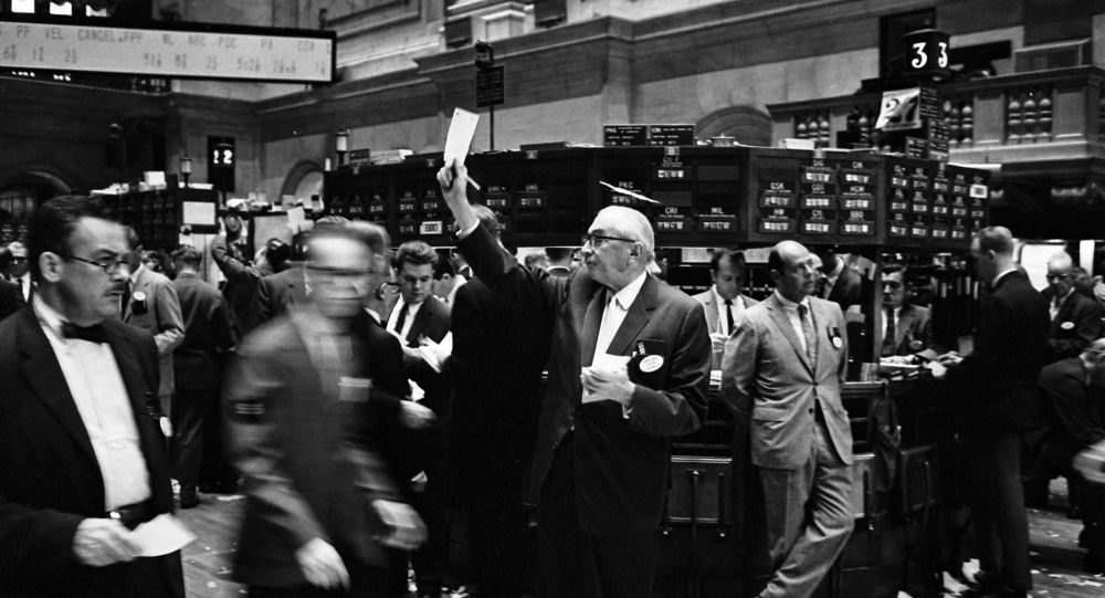 Traders à la Bourse de New York, septembre 1963