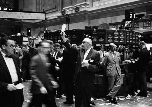 Traders à la Bourse de New York, septembre 1963