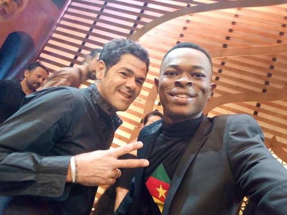 Ulrich Takam en compagnie de Jamel Debouzze au festival Marrakech du rire