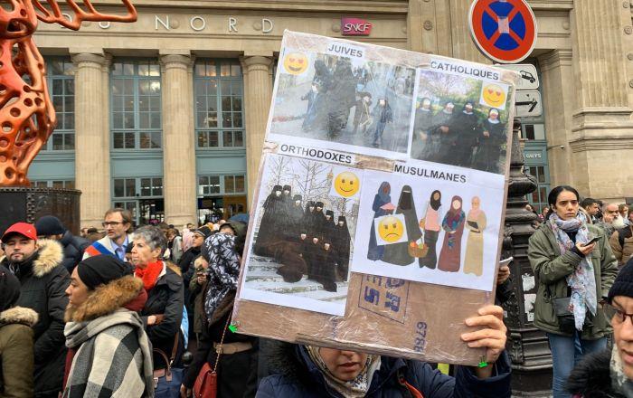 La marche contre l'islamophobie à Paris 10 novembre 2019