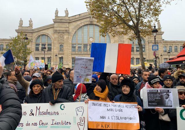 Marche antiislamophobe à Paris
