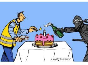 Premier anniversaire des Gilets jaunes: les casseurs ont gâché la fête