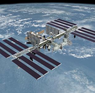 Международная космическая станция на изображении, полученном с космического челнока Endeavour
