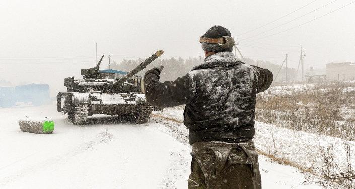 Militaires ukrainiens dans la région de Lougansk. Archives
