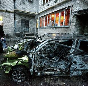 Donetsk après les bombardements de dimanche