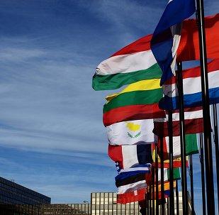 Les drapeaux des pays de l'Union Européenne