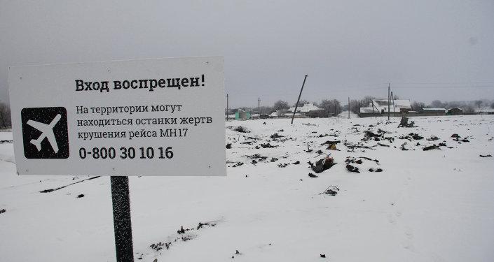 Le lieu du crash et des fragments du Boeing malaisien dans le Donbass
