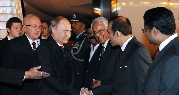 Vladimir Poutine en Inde