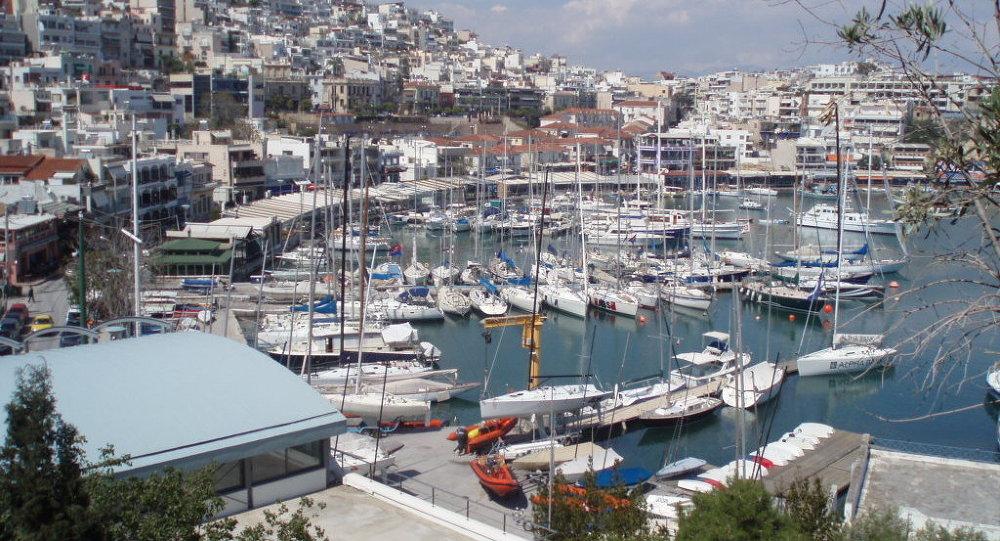 View of Mikrolimano, in Piraeus, Greece