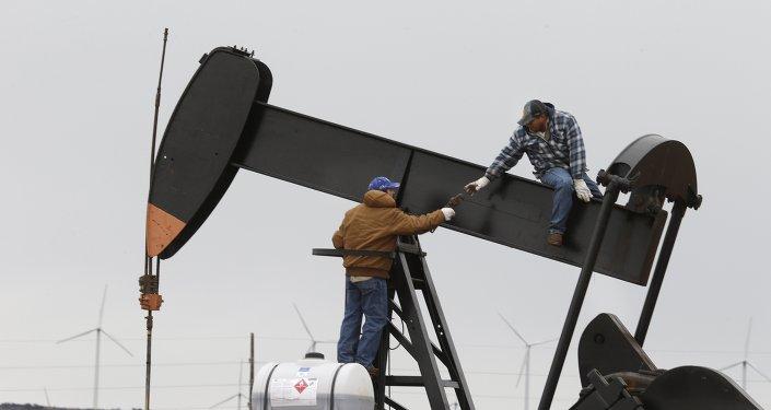 Une pompe à pétrole