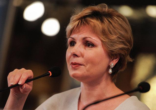 La directrice générale des Musées du Kremlin de Moscou Elena Gagarina