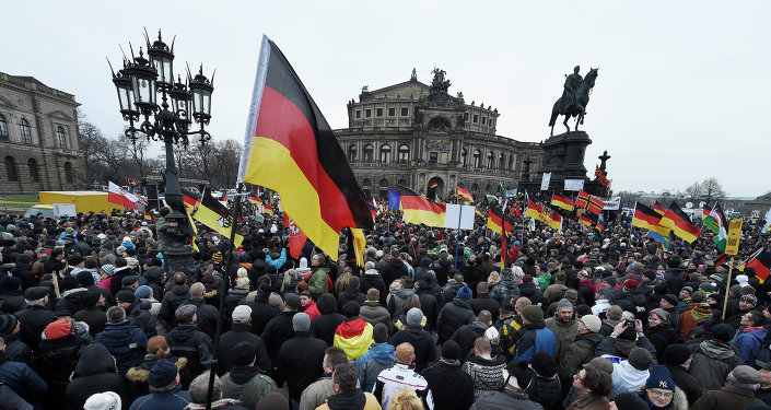 Manifestation du mouvement PEGIDA à Dresde