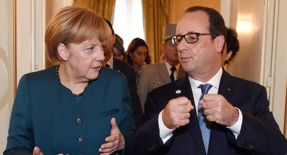 Migrants: Hollande et Merkel appellent à l'unité européenne. Image d'illustration