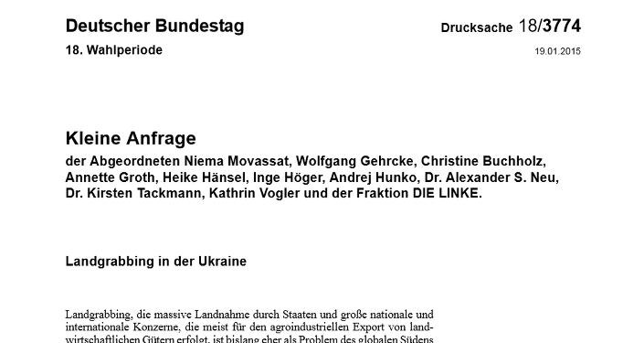 Texte intégral (en allemand) de la requête des députés allemands au gouvernement fédéral