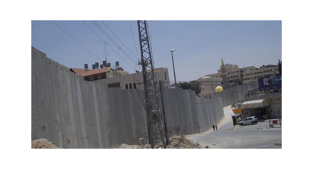 La barrière qui sépare Israël de la Cisjordanie