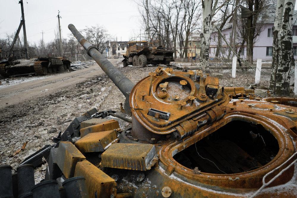 Dans une rue d'Ouglegorsk