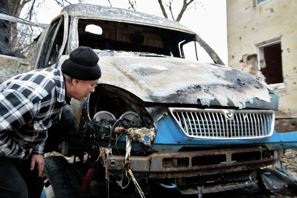 Donetsk, pilonnée par l'artillerie ukrainienne