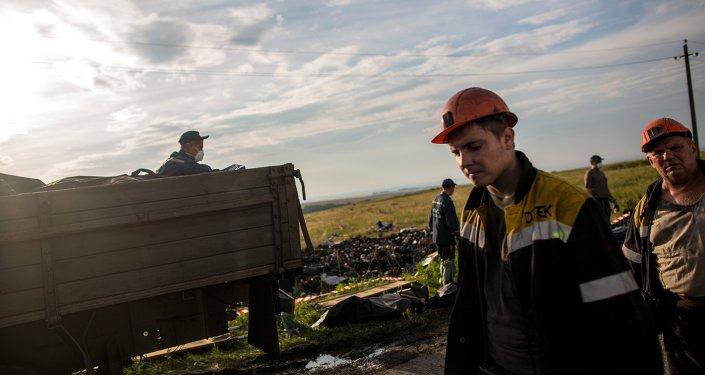 MH17: images des lieux du crash
