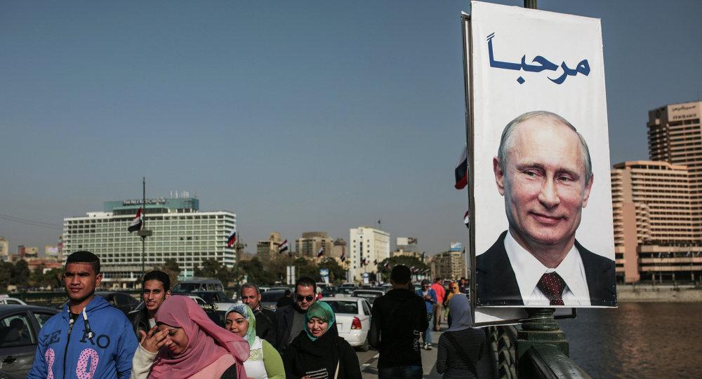 Portrait de Vladimir Poutine au Caire