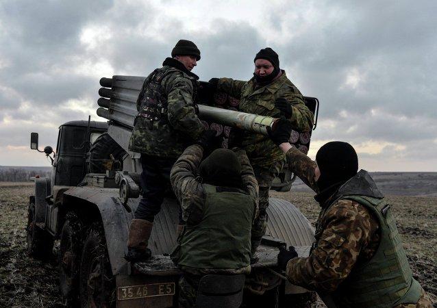 Des soldats de l'armée ukrainienne