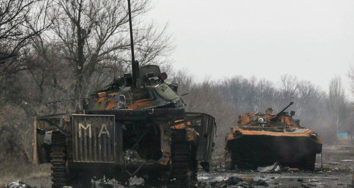 Après des combats dans le Donbass