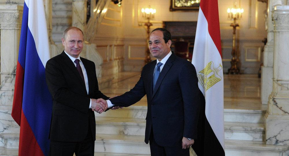Le président russe Vladimir Poutine et  le président égyptien Abdel Fattah al-Sissi