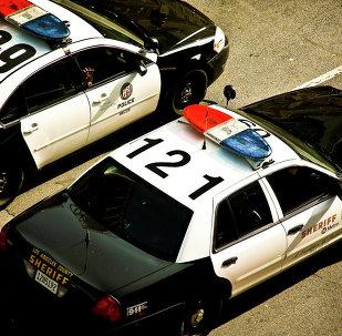Des voitures de police US