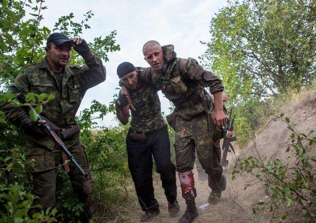 La ville de Gorlovka pilonnée par l'armée