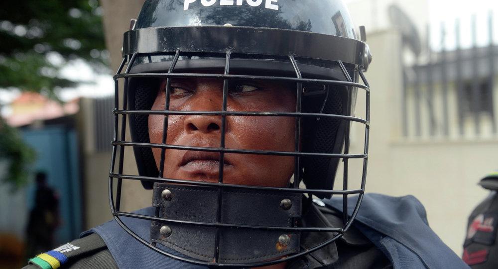 Une policière nigériane