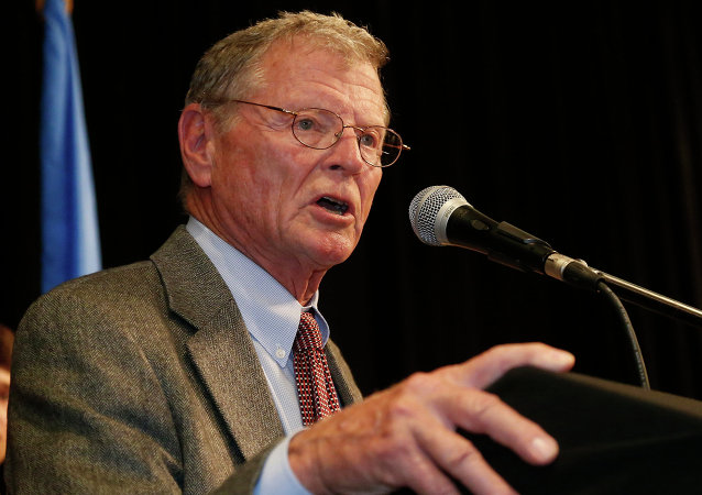 Le sénateur républicain de l'Oklahoma James Inhofe. Archive photo