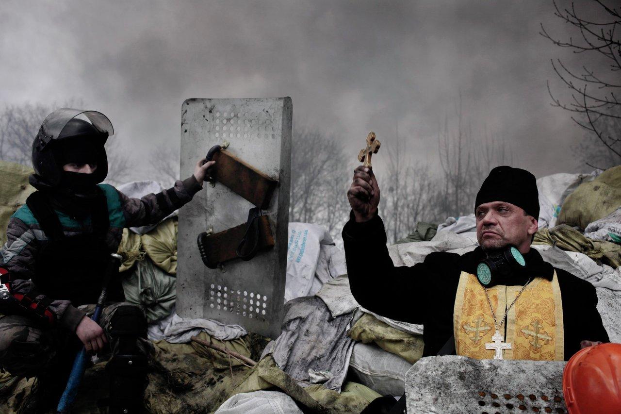 Une action de protestation à Kiev