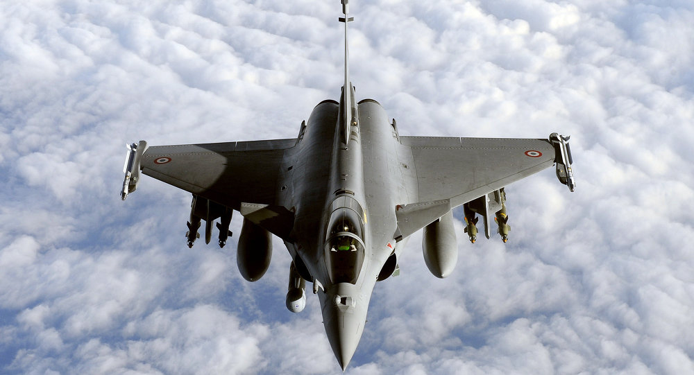 Un avion de combat Rafale