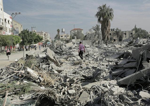 Une rue de Gaza