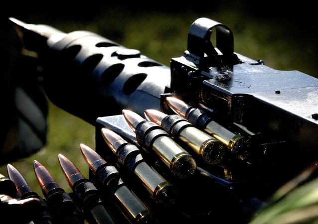 Une mitrailleuse britannique