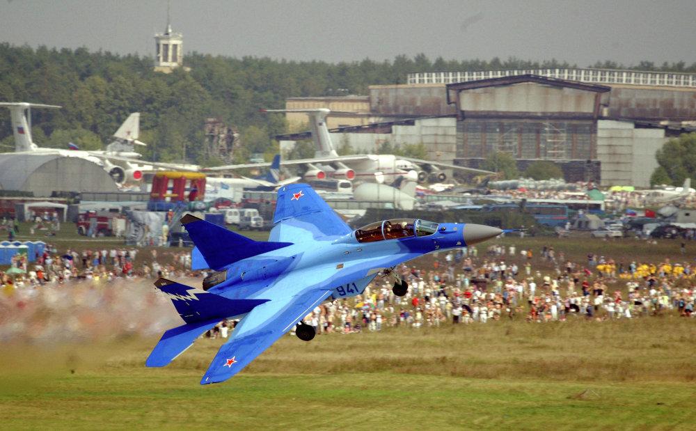 Un Mig-29K au Salon Maks à Joukovski (environs de Moscou), le 25 août 2007
