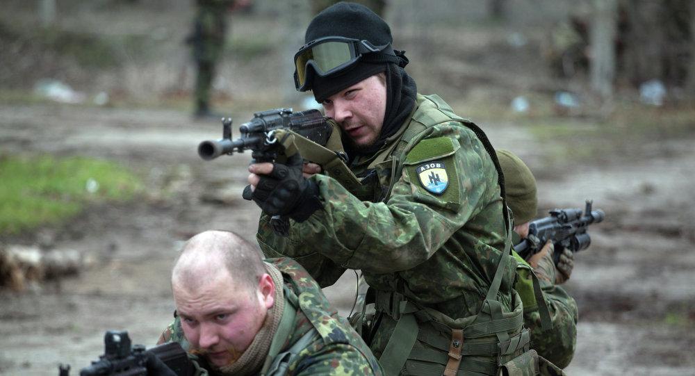 Combattants du bataillon ukrainien Azov