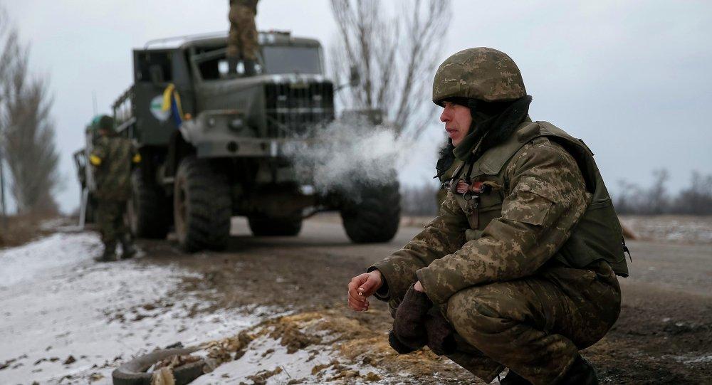 Militaires ukrainiens près d'Artemovsk
