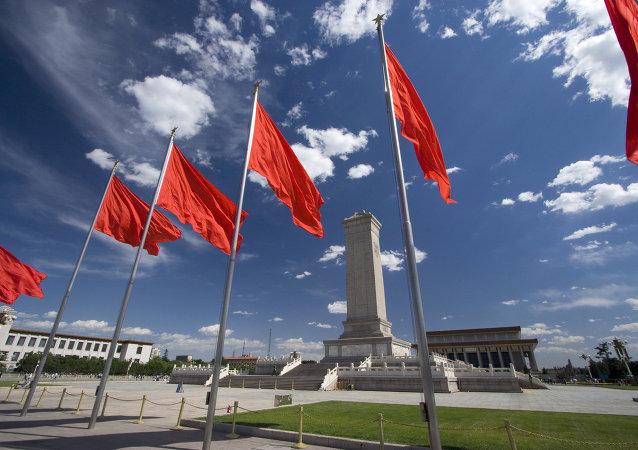 Place Tiananmen à Pékin, Chine
