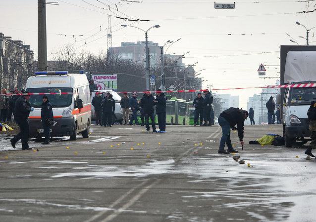 Les conséquences de l'explosion à Kharkov