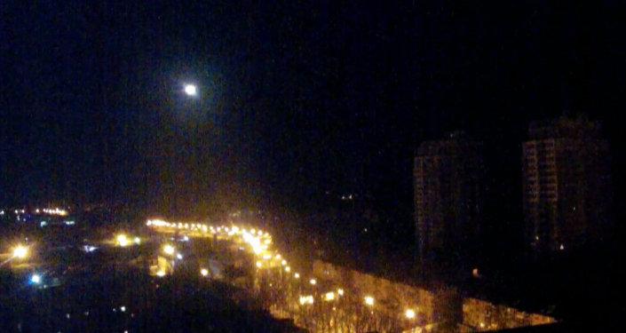 Un objet non identifié dans le ciel de Donetsk