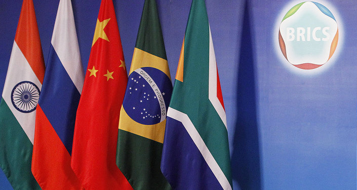 Drapeaux des pays des BRICS