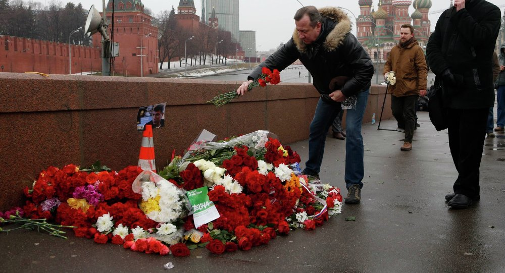 Le lieu de l'assassinat de Boris Nemtsov