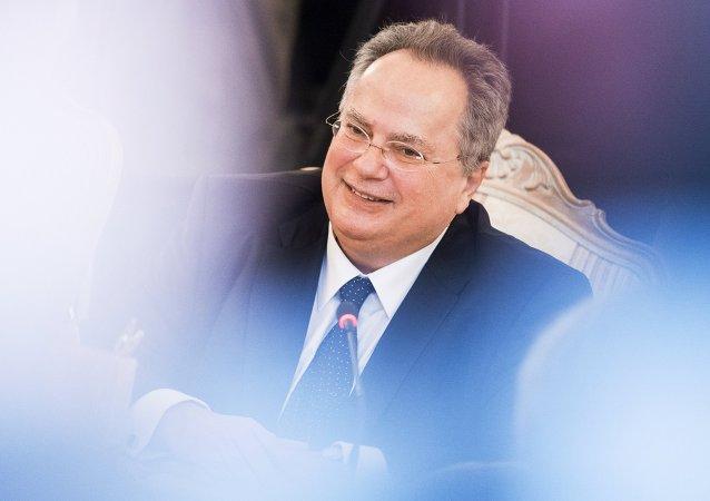 Le ministre grec des Affaires étrangères Nikos Kotzias