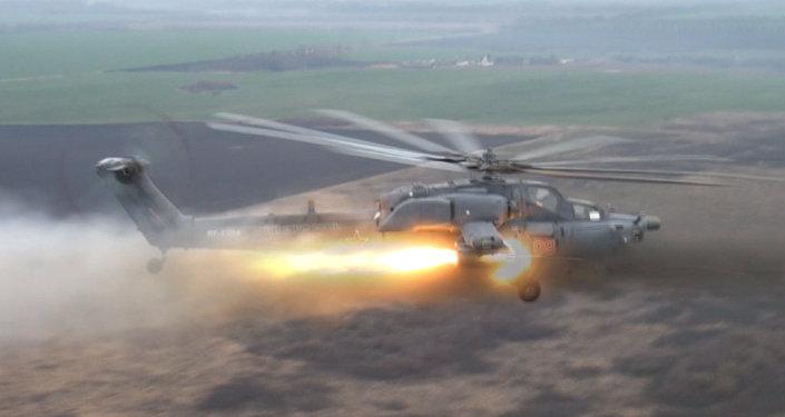 Les hélicoptères russes Night Hunter et Terminator en action